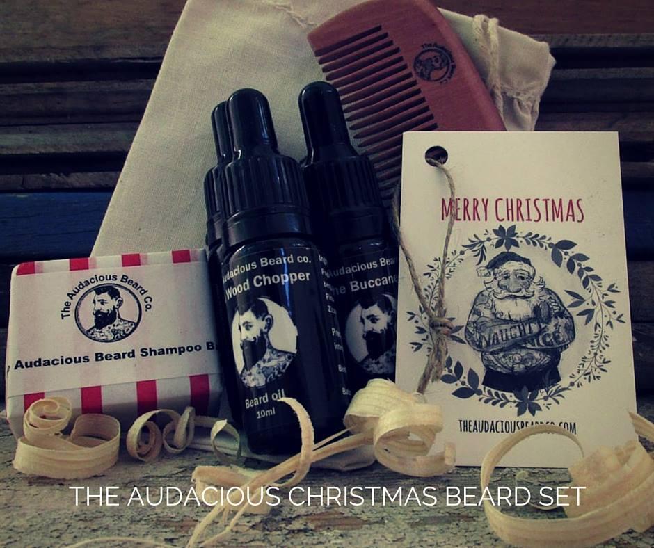 The Audacious Christmas Beard Set